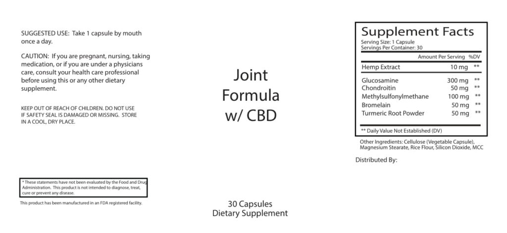 CBD Muscle and Joint Capsule Information