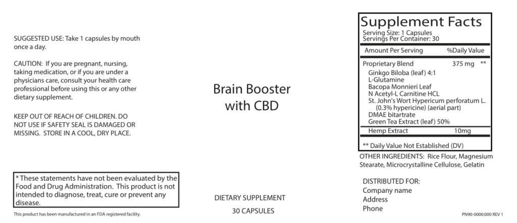 CBD Brain Capsule Information