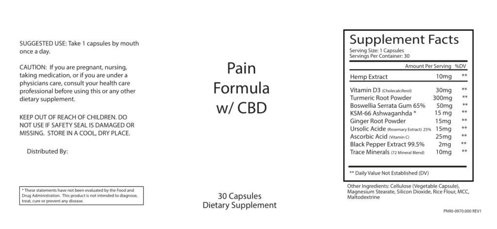 CBD Pain Capsule Information