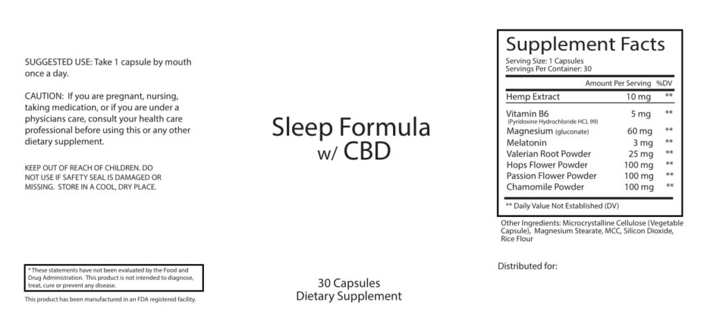 CBD Night-Time Capsule Information